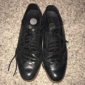 cole haan woman's black oxfords